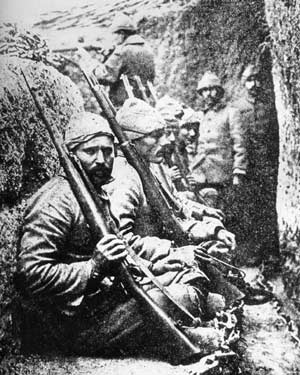 In the trenches at Gallipoli
