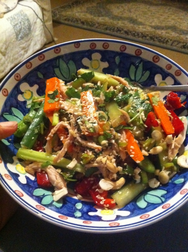 Proof that I have used my cook book - Vietnamese Poached Chicken Salad. It's a winner.