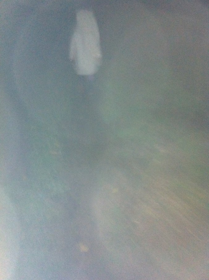 My one and only ghostly encounter - with Lu in her dressing gown.
