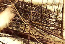 The Tunguska Event in Siberia, 1908.