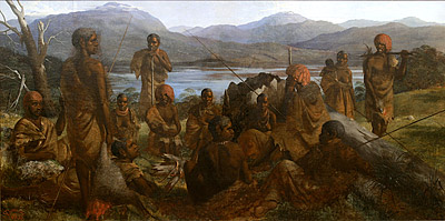 Aborigines of Tasmania, Robert Dowling 1859