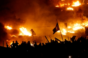 Kiev (wonder if there are any chickens in there). (Photo taken without permission from AlJazeera)