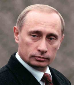 """Pervy Putin with one of his stock """"I love myself"""" expressions. He has a few."""